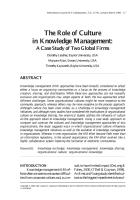 The Role of Culture in Knowledge Management - A Case Study of Two Global Firms.pdf