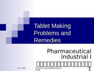 Tablet making problems_7july11.ppt