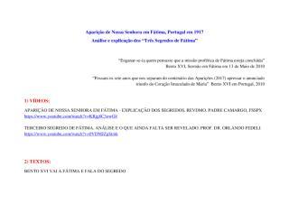 Os Três Segredos de Fátima - Análise e Explicação - Atualização 4.pdf